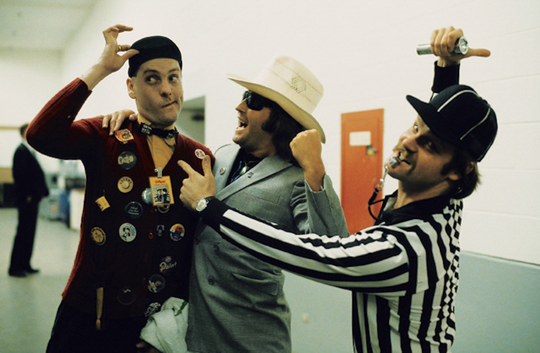 Mick Jones & Cheap Trick Guitarist Rick Nielson with _Referee,_ Cotton Bowl, Dallas, TX, June 21, 1980  [Lisa Tanner]_1