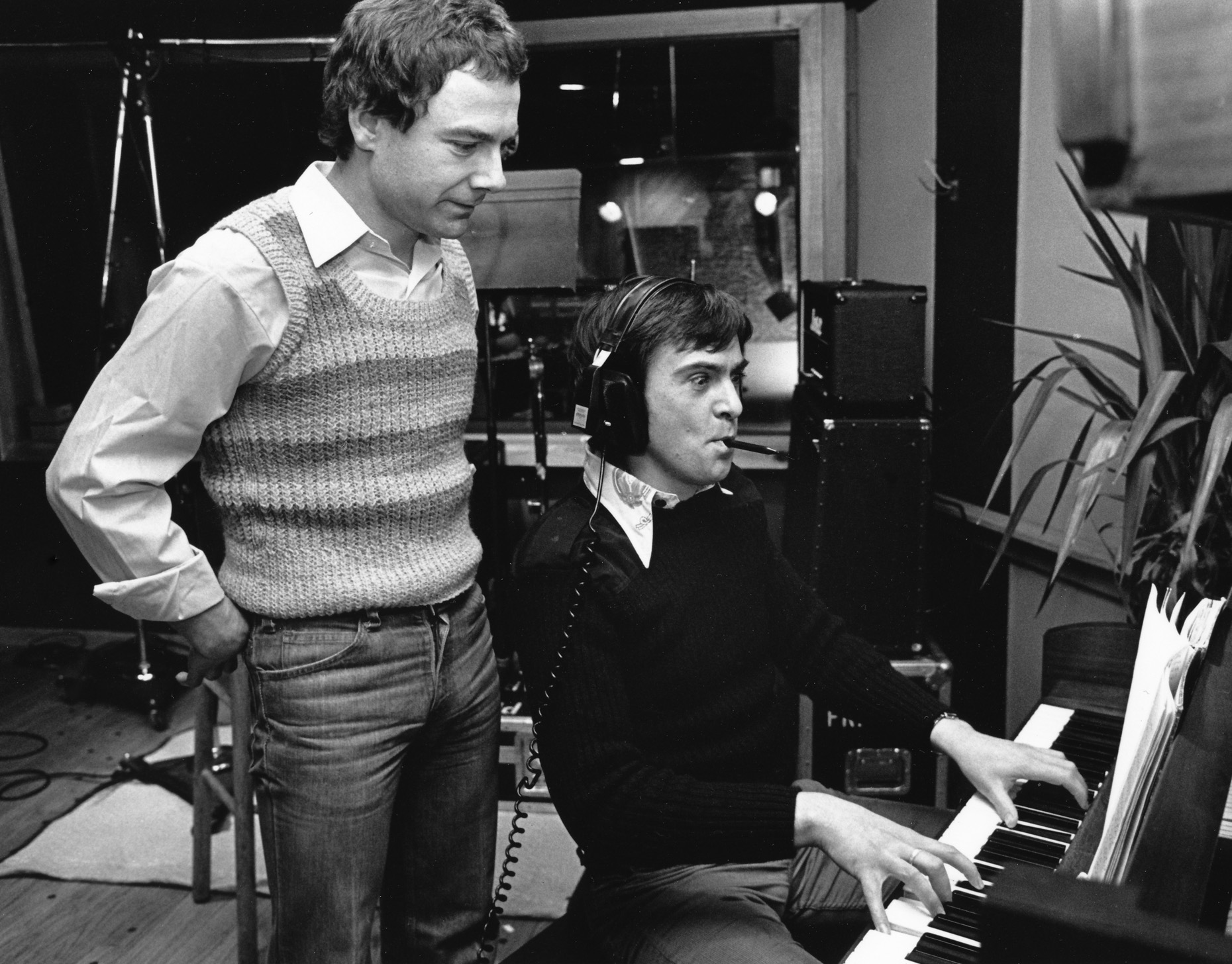 Peter Gabriel and Robert Fripp Atlantic Studios